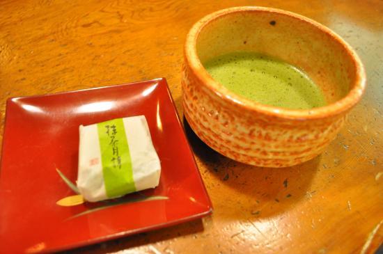 Hoshi: お抹茶とお茶菓子