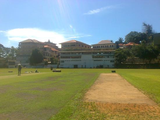Asgiriya Stadium: A wicket under preparation