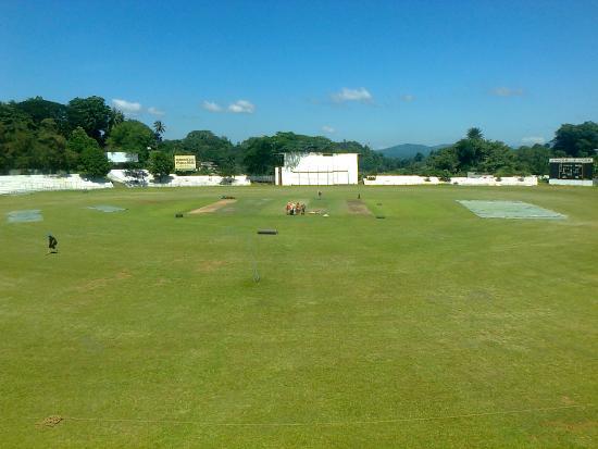 Asgiriya Stadium: View from the media centre