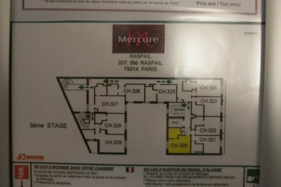Mercure Paris Montparnasse Raspail : Each room is quite small, yet modern cool designing