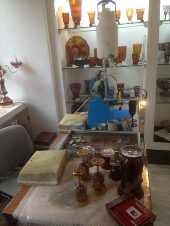 Moser Glass: laboratorio del negozio in Castello