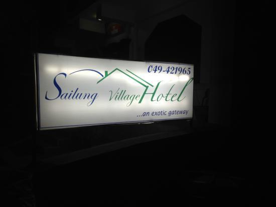 Sailung Village Hotel: the signage