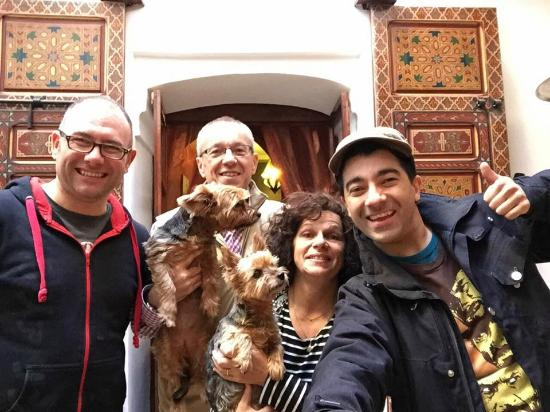 Riad Alena : Us with the owners Franke and Claudie