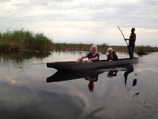 Okavango River: Mokoro on Okovango Delta