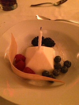 Sugar Hill Inn: Buttermilk Panna Cotta with Fresh Berries