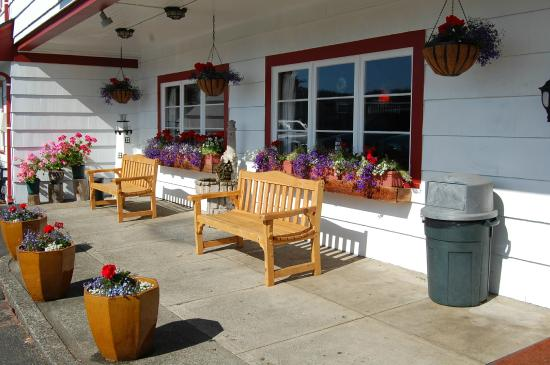 Lighthouse Inn: Sunny sitting area to drink coffee in the a.m.