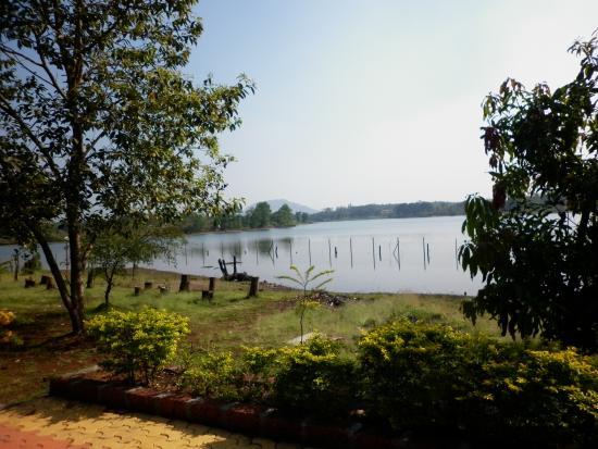 Pooja Farms: Near the lake