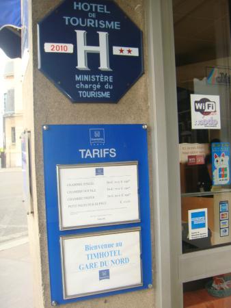 Hôtel At Gare du Nord: entrada