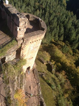 Dahn, Germany: View on the castle