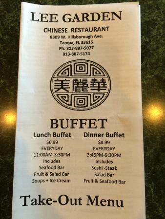 Lee Garden Chinese Restaurant Tampa Fl