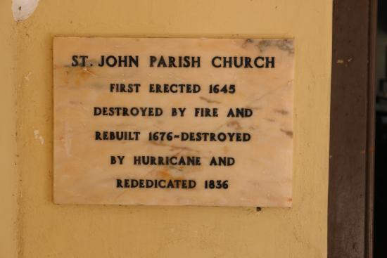 St. John's Church: Plaque on church