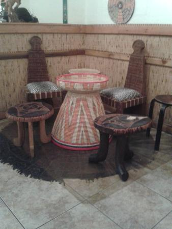 Zeni Ethiopian Restaurant : Ethnic seating
