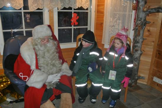 Snow Village: santa visit