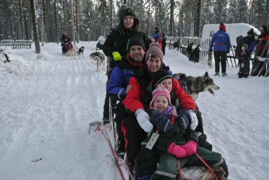Snow Village: husky ride