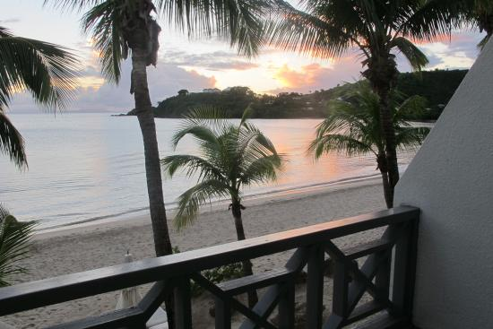 Carlisle Bay Antigua: Sunset view from our terrace