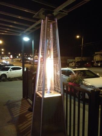 Casablanca: Funky gas firepit greets you at the door...