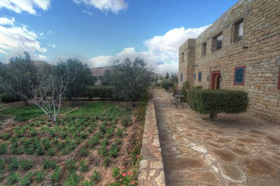 Kasbah Imini: jardin et potager de la maison