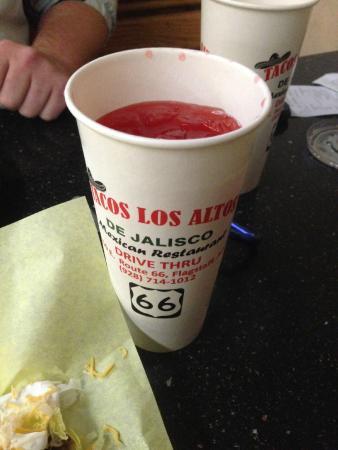Tacos Los Altos: Watermelon drink