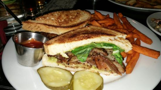 Triumph Brewing Co of New Hope : BLT with sweet potato fries