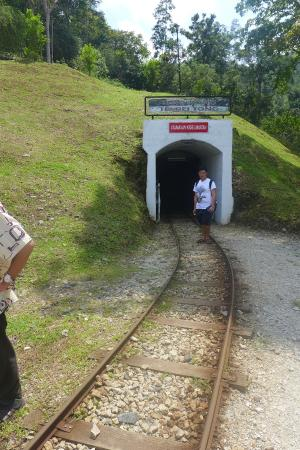Sungai Lembing Mines: Entrance of the tunnel.