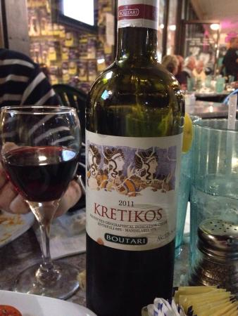 Chris' Taverna : Red Greek Wine... Was good with lamb chops.