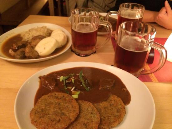 Domecek Cafe: Goulash and Demon beer