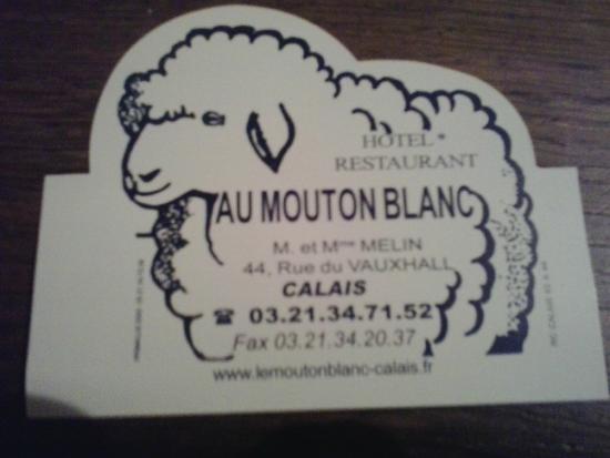 Au Mouton Blanc: Carte de visite....
