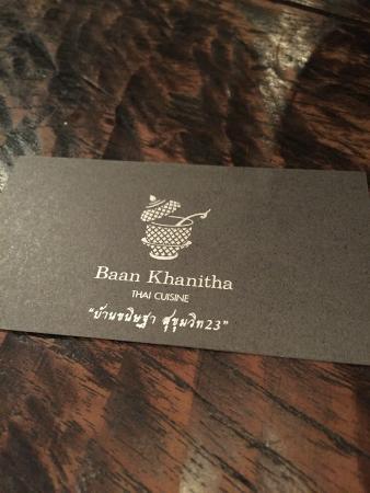 Baan Khanitha: Name card