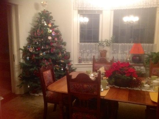 Bed and Breakfast on Capitol Hill: xmas in the dining room