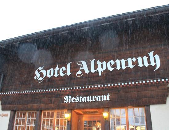 Hotel Alpenruh Restaurant: hotel Alpenruh