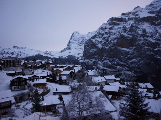 Hotel Alpenruh: a view of the mountain village