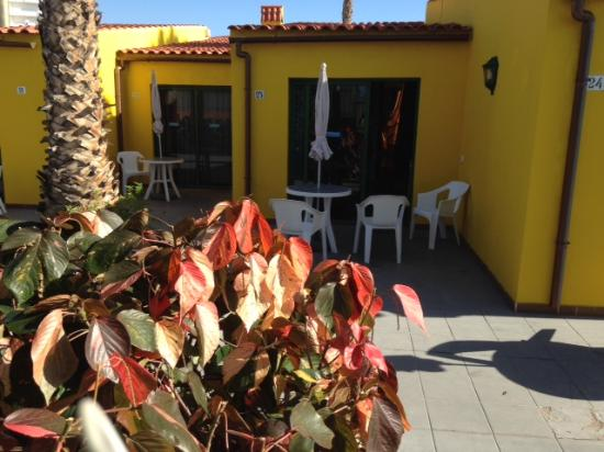 Tropical La Zona: our  2 adjoining bungalows: Our's &  our  friend's