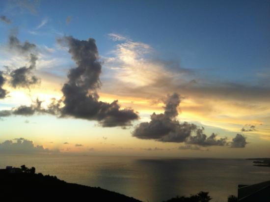 Villawellness St. Lucia: sunset view