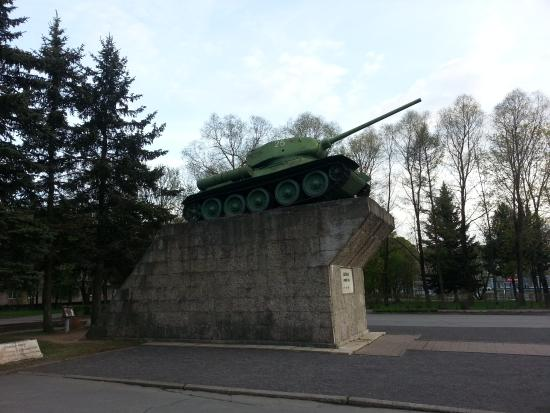 Monument Tank T-34 to Defenders of Kirishi