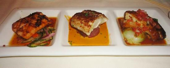 Roy's Restaurant : Trio of Salmon, Mahi-Mahi, Butterfish.....