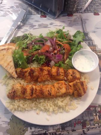 Complimentary baklava bite picture of anatolia doner for Anatolia mediterranean cuisine menu