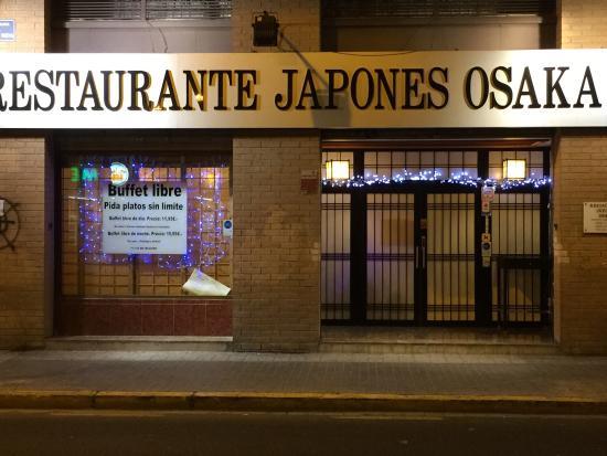 Restaurante Japones Osaka: Fachada principal