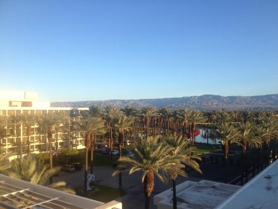 Jw Marriott Desert Springs Resort Spa View From 8th Floor Room Toward Front Of