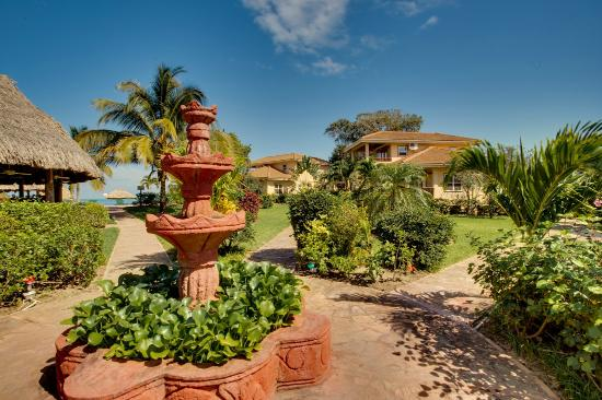Garden Grounds At Belizean Dreams Resort In Hopkins Belize