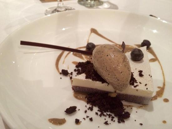 American Bounty: Peppermint Mocha: Dark Chocolate Ganache, White Chocolate Peppermint Mousse, Coffee Ice Cream