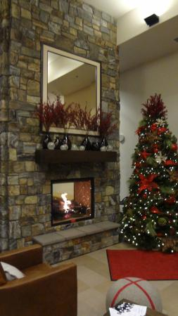 Four Points by Sheraton Kelowna Airport: View of the Fireplace in the lobby
