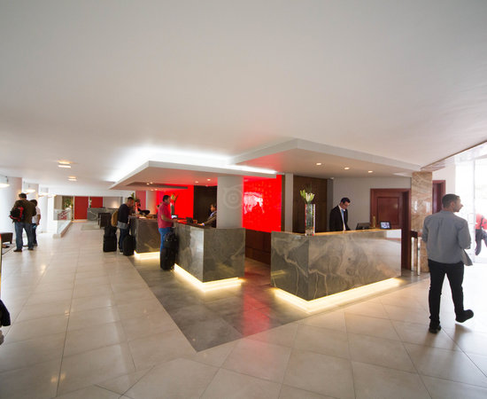 Front Desk at the Radisson Blu Hotel Waterfront, Cape Town