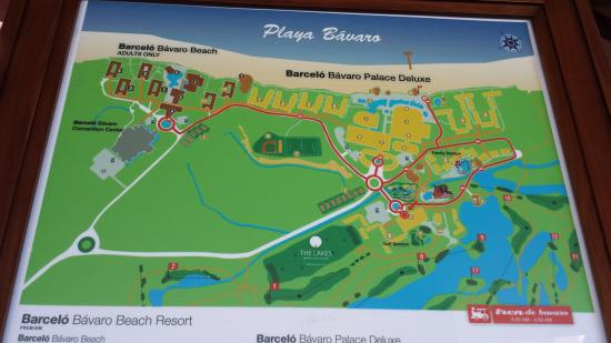 Barcelo Bavaro Palace Map Of Resort