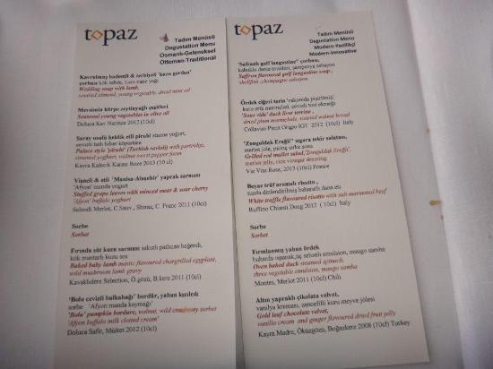 Topaz Restaurant: Traditionnel ou moderne à vous de choisir