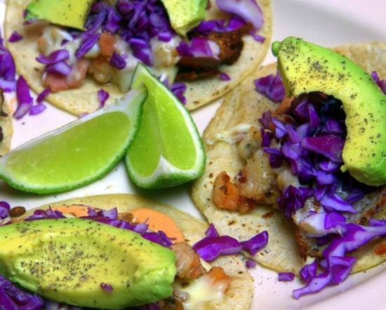 Cactus: Shrimp and bacon tacos