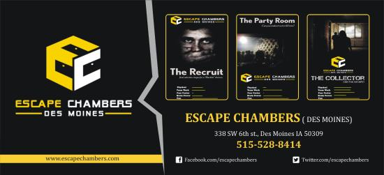 Photo of Tourist Attraction Escape Chambers at 338 Sw 6th St, Des Moines, IA 50309, United States