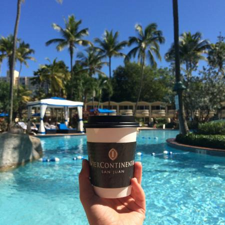 Intercontinental San Juan Delicious Iced Americano Coffee From Bar In Lobby Area