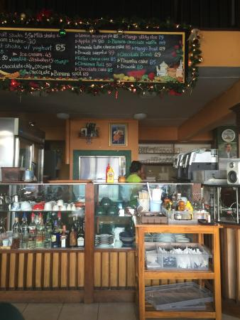 Art Cafe (ThaPhae Gate) : Inside Art Cafe. I came here based on good reviews for a Western style breakfast. I ordered panc