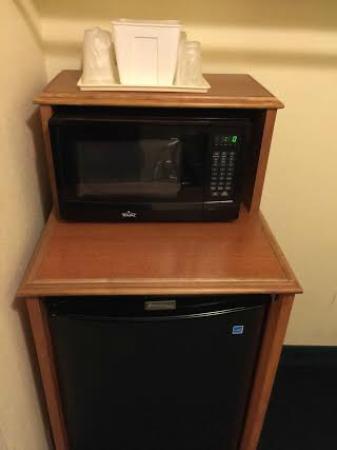 Americas Best Value Inn & Suites: Microwave and fridge