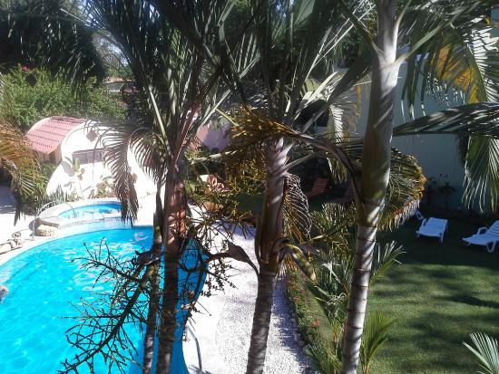 Di Mare Di Vino: vue sur la piscine ;Vistas sobre la picina